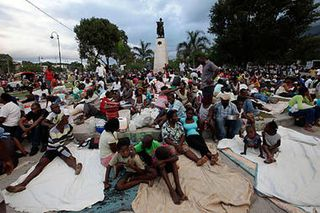 Haitians post quake