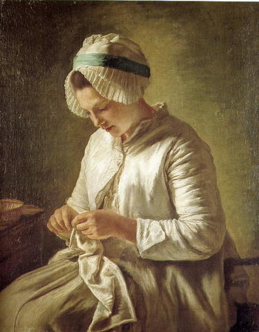 WomanKnitting