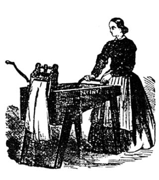 Woman-wash-wringer